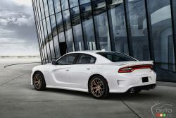 In 2006, as part of a new retro wave taking place within the industry, the Charger returned with a vengeance, plus a couple of extra doors. Buyers quickly forgave the brand for its foolish '80s foray into 4-cylinder turbocharged eco-boxes and were faithfully rewarded with a honking great 5.7L V8 HEMI. The 6.1L SRT8 model followed this, and now the Dodge Charger nameplate resides upon the world's quickest/fastest/most powerful production sedan, respectfully known as the SRT HELLCAT!