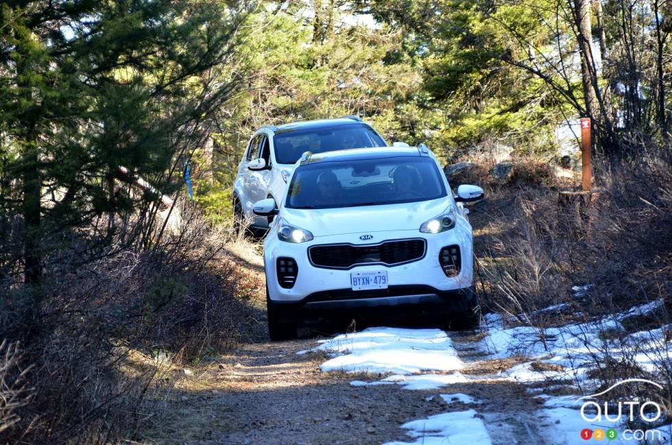 2017 Kia Sportage driving