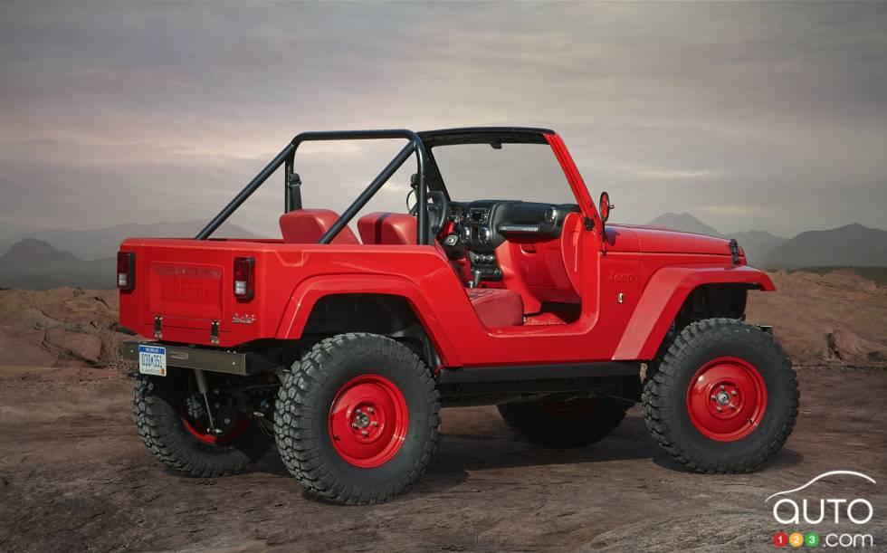 Jeep Shortcut Concept  rear 3/4 view