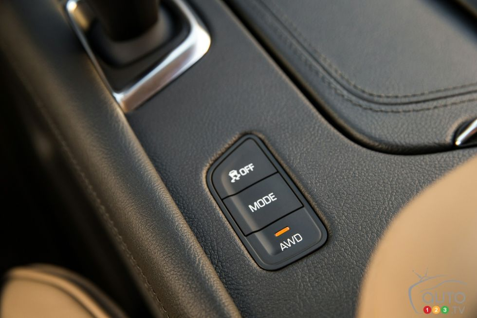 2017 Cadillac XT5 driving mode controls