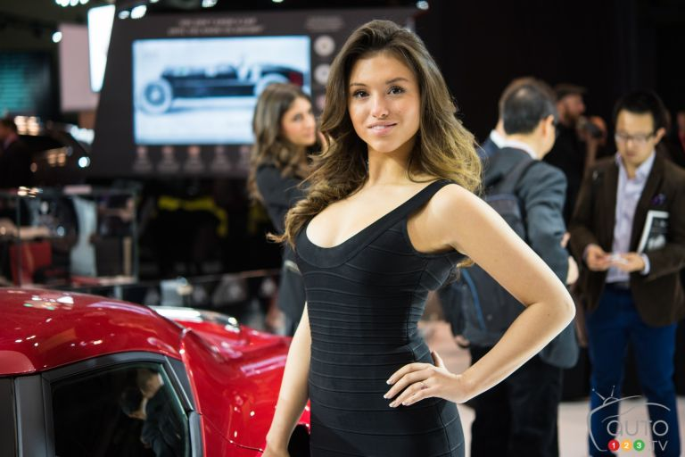 Ladies from 2016 Canadian International Auto Show