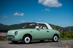 The Nissan Figaro is a two-door 2+2 retro-styled fixed-profile convertible manufactured by Nissan for model year 1991, and originally marketed solely in Japan