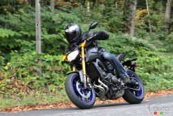 The new 2014 Yamaha FZ-09 will give other naked bikes a run for their money. It marks a return to the 3-cylinder configuration with an all-new 847 cc engine that's full of character.