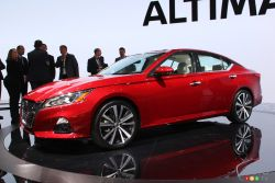 The 2019 Nissan Altima at the New York Auto Show