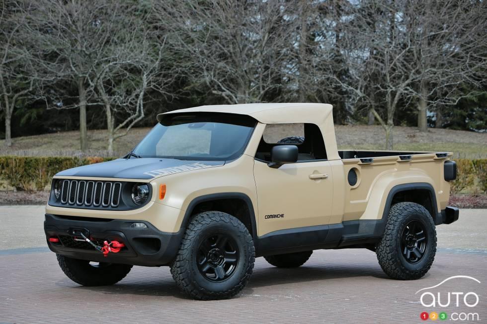 Jeep Comanche Concept front 3/4 view