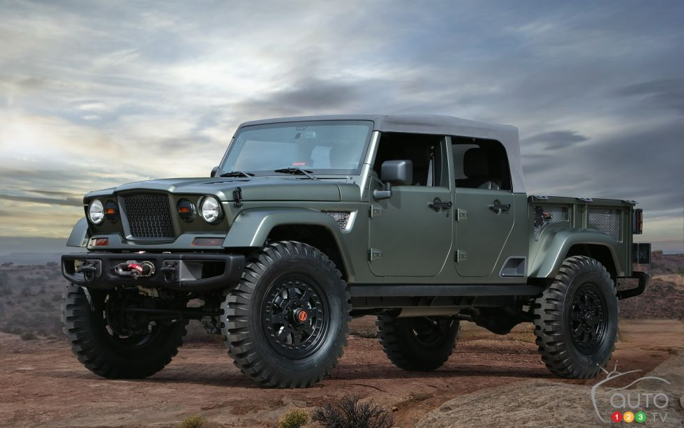 Jeep Crew Chief 715 Concept front 3/4 view