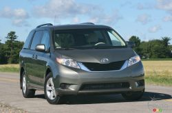 The Toyota Sienna is one of only six minivans available in North America right now (the next-generation 2011 Nissan Quest won't arrive until this winter and the Mazda5 really is in a class of its own due to major size differences).