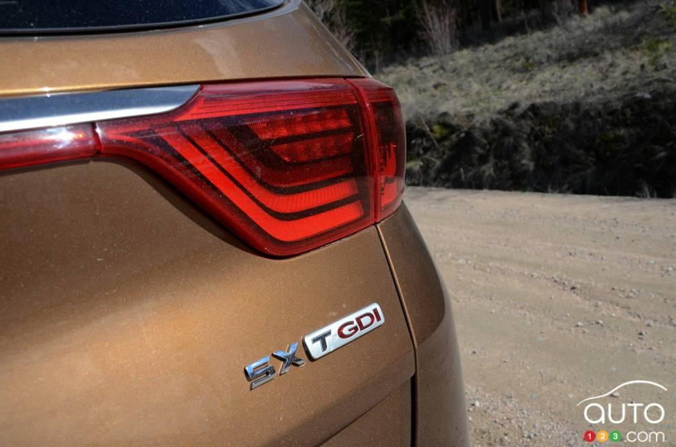 2017 Kia Sportage trim badge