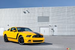An honest-to-badness masterpiece - The 2013 Ford Mustang Boss 302 represents the pinnacle; the top step on the Mustang's storied echelon. Under the vented bonnet is Ford's 5.0L V8 which received considerable improvements in order to survive repeated track abuse.