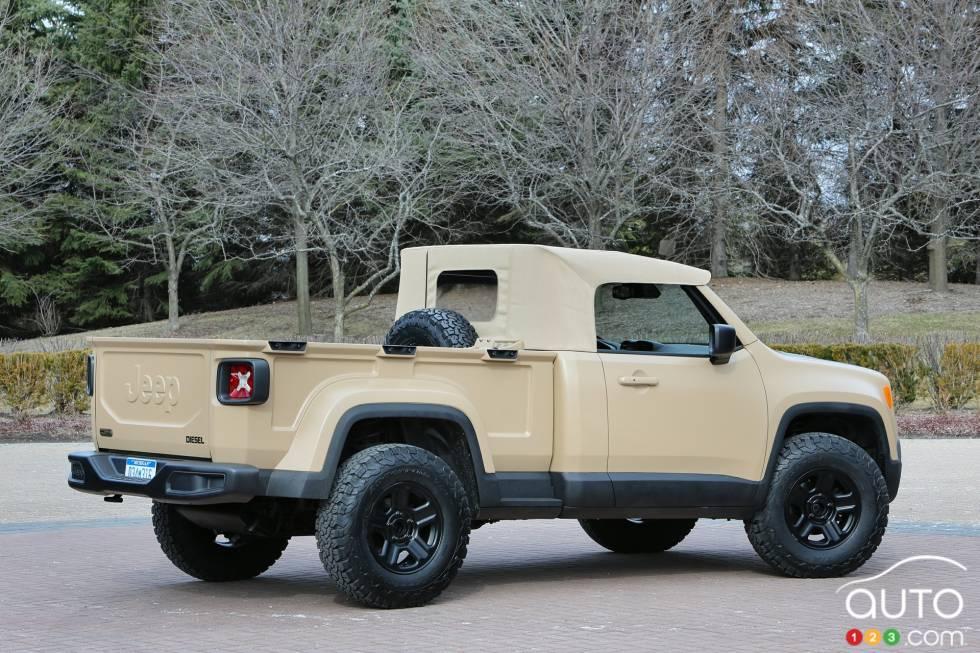 Jeep Comanche Concept rear 3/4 view