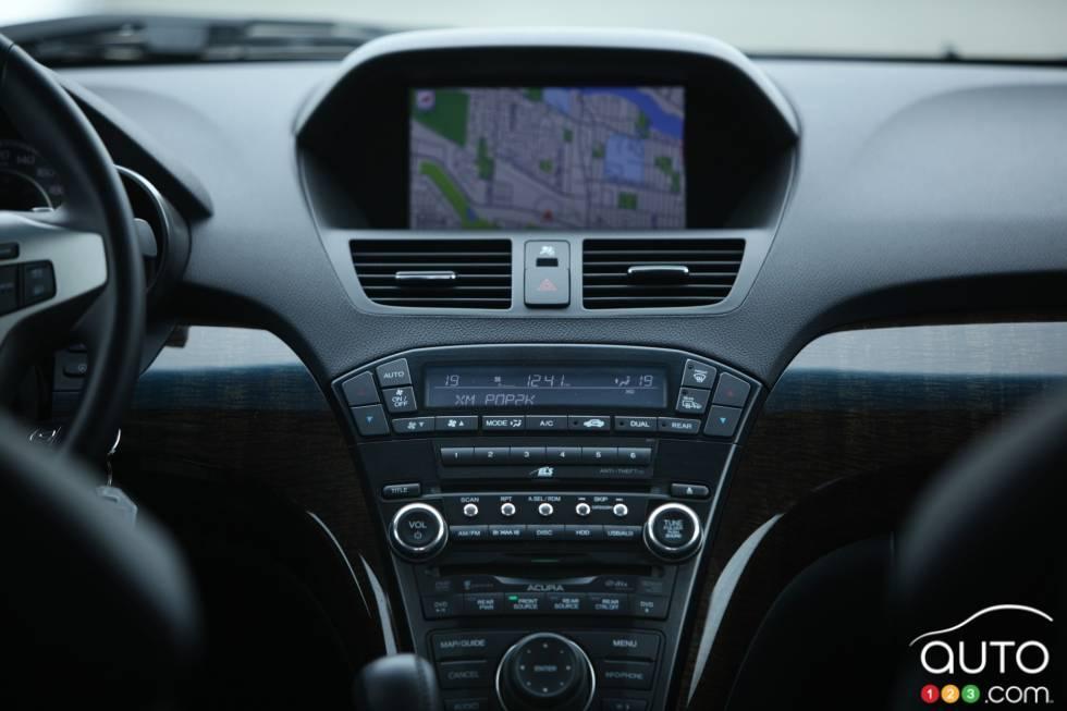 Navigation system in dashboard