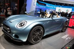 The MINI Superleggerra Vision 2015 was unveiled to the members of the media at the 2015 North American International Auto-Show and Auto123.TV was their to capture images of this concept car.