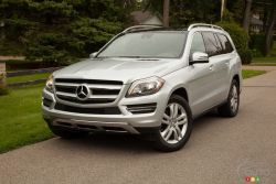 """The 2014 Mercedes-Benz GL 350 BlueTEC is more than just a people-hauler. Sure, it has three rows with room for seven, but it can also coddle you in creature comforts you might not expect from an automobile. As well as offering up """"slow and vigorous"""" (should that be your desire) massaging front seats, the GL 350 is also quite quick for its size."""