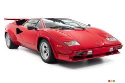 La Lamborghini Countach 1984 de Mario Andretti