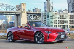 We drive the 2021 Lexus LC 500 Convertible