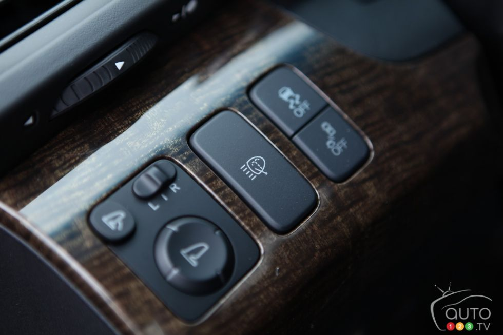 Controls on the dashboard