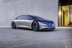 Voici le prototype Mercedes-Benz Vision EQS
