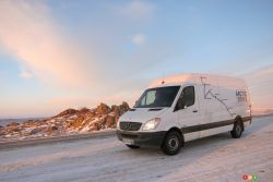 Toughness and reliability - The 2013 Mercedes-Benz Sprinter's output is 188 hp with 325 lb-ft of torque, which gets the big vehicle (3,876 - 5,003 kg) moving smartly if not with a blinding top speed. Steering is surprisingly good for such a big truck.