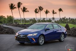 The Toyota Camry is another in the long list of go-to cars. As one of Toyota's superstars, they've made sure that it offers something for almost everyone. With three powertrains on tap, the Camry remains a very popular midsize sedan.