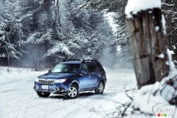 With any Subaru, traction is never an issue. The famed Symmetrical AWD system never fails to get the vehicle moving. Be it wet, snow-covered or icy, the road surface condition will never beat the Forester.