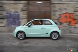 2016 Fiat 500 Convertible side view