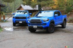 The new 2019 Toyota 4Runner TRD Pro, Tacoma TRD Pro and Tundra TRD Pro