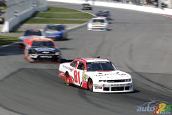 Video of Maryeve Dufault's first Nationwide race: A rising star - Auto123.com was able to follow Maryeve Dufault when she became the first Canadian female race car driver to take the start of the NASCAR Nationwide race held in Montreal.