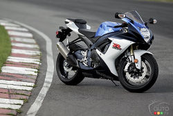 The Gixxers - In 2011 Suzuki is retaliating in the mid-size sportbike segment with the brand-new GSX-R600 and GSX-R750. Suzuki's engineers pulled no punches to make the new Gixxers the best of the current crop. Redesigned, lightened and optimized down to the slightest detail, these bikes are determined to whoop some serious ass.