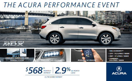 Acura  Lease on Acura Promotions   Deals   Rebates   Toronto   Acura Sherway