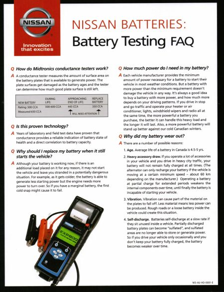 Nissan Battery Testing FAQ