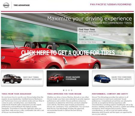 Competitive Pricing for all Nissan Tires get an immediate quote.