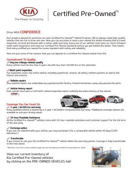 Why Buy Kia Certified Preowned Vehicle! Find out here!
