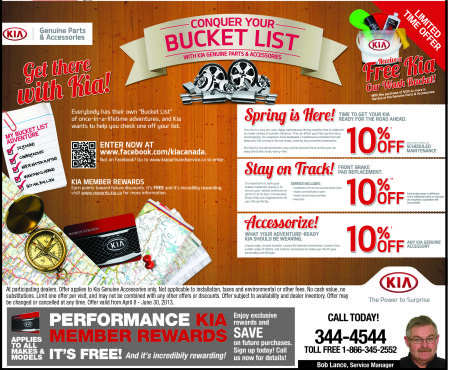 Get a FREE Kia Car Wash Bucket! Great Value!!