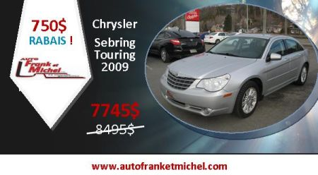 750$ de rabais! Chrysler Sebring Touring 2009 chez Auto Frank et Michel