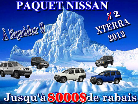 NISSAN XTERRA 2012  LIQUIDER - PAQUET NISSAN  LVIS, QUBEC