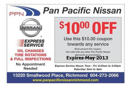 Express Service Coupon