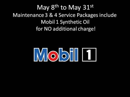 Maintenance #3 & #4 includes Mobil 1 synthetic oil at no additional charge.