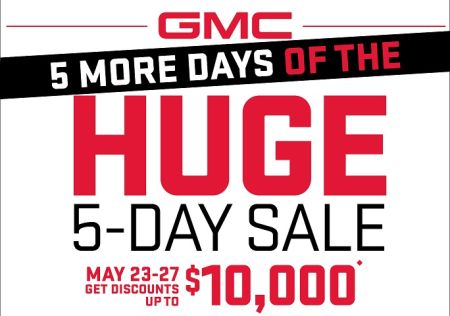 GMC Huge 5 Day Sale!