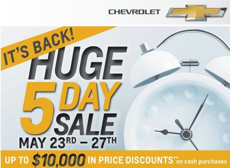 Chevrolet Huge 5 Day Sale!