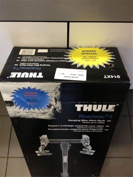 Front counter parts special Thule Accessories 10% off