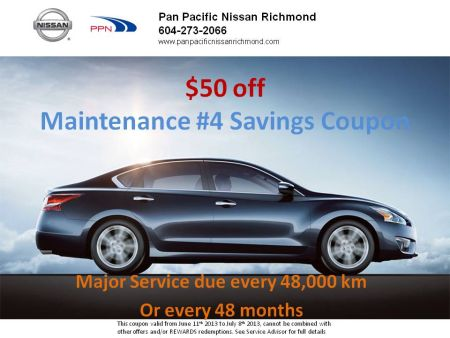 $50 off Maintenance #4 (major service)