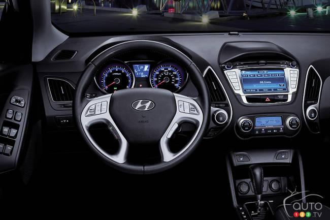 2012 Hyundai Tucson Limited dashboard