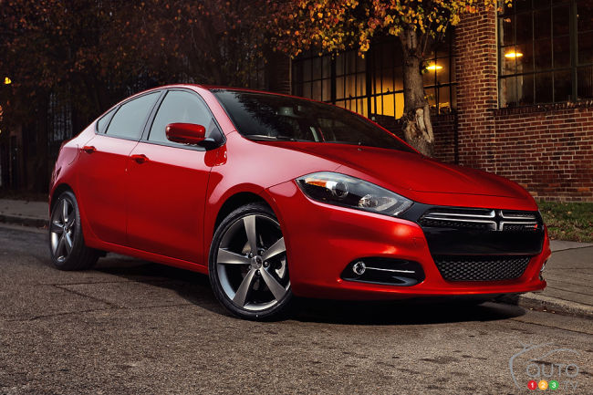 Dodge Dart 2013 vue 3/4 avant