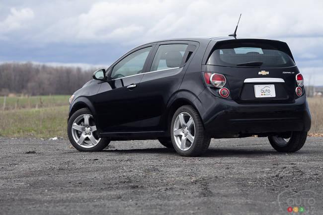 2012 Chevrolet Sonic LT rear 3/4 view