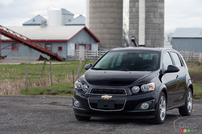 2012 Chevrolet Sonic LT dashboard