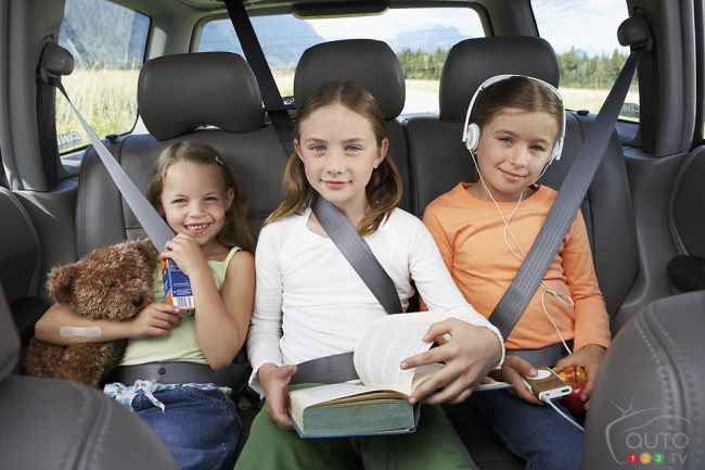 children on the rear seats