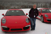 Enjoying winter with Porsche Camp4 Canada