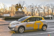 Des taxis Nissan LEAF à New York
