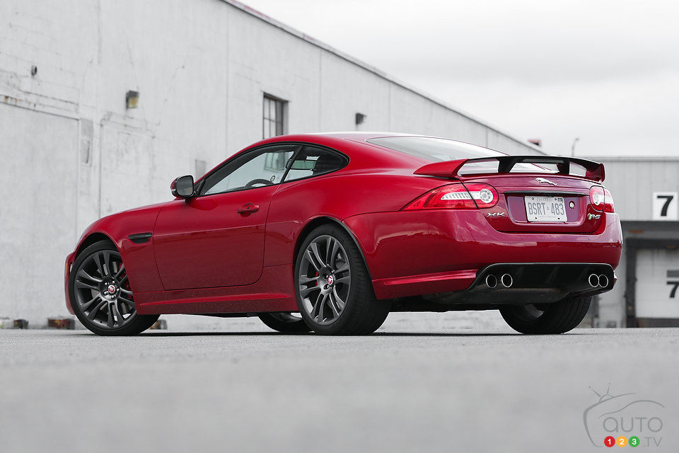 2014 Jaguar XKR S Rear 3/4 View