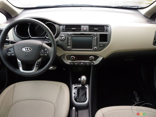 2012 Kia Rio SX Sedan dashboard